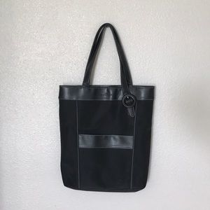 GIVENCHY | Authentic Black Leather Bag w/ stripes